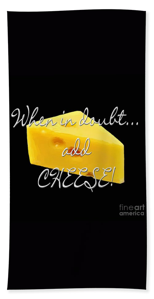 Cheese Beach Towel featuring the painting Cheese by Methune Hively