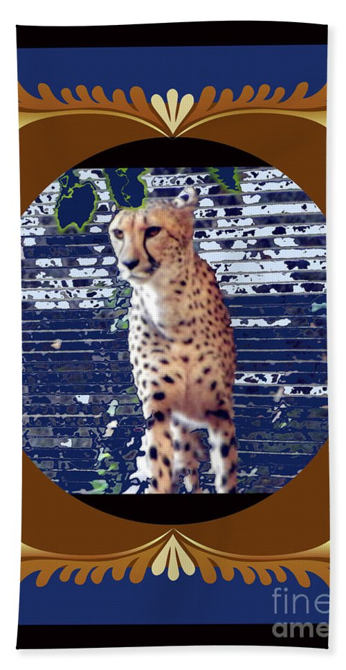 Beach Towel featuring the photograph Cheetah Lean And Mean by Shirley Moravec