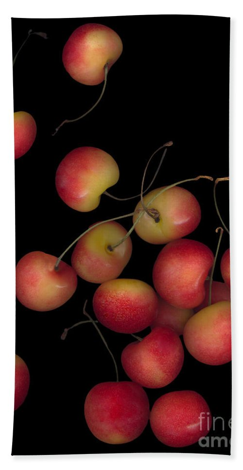 Cherries Beach Towel featuring the photograph Cherries Multiplied by Heather Kirk