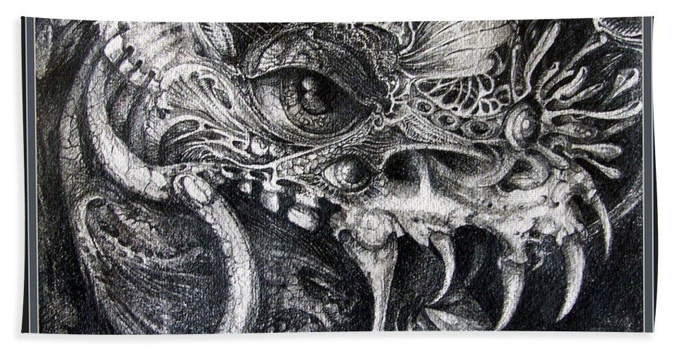 Beach Sheet featuring the drawing Cherubim Of Beasties by Otto Rapp