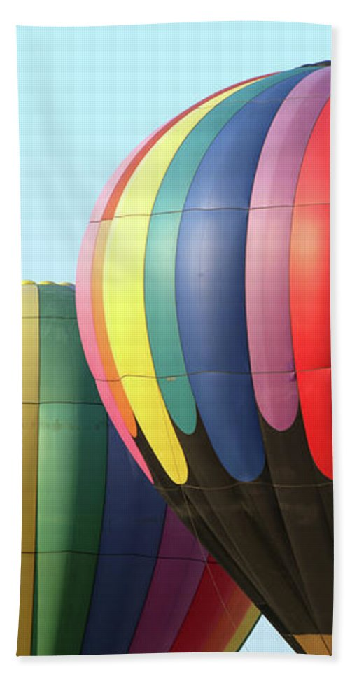 Hot Air Balloons Beach Towel featuring the photograph Chester County Balloon Fest 8765 by Terri Winkler