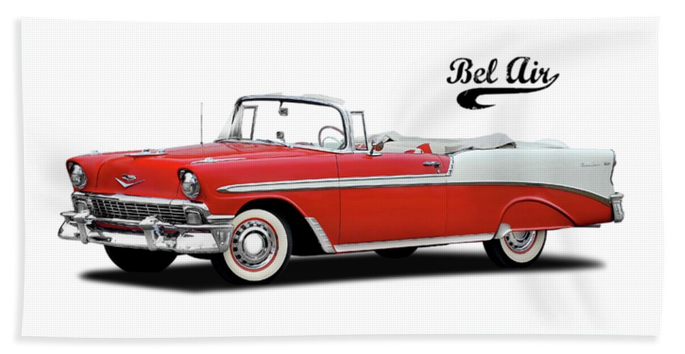 Chevrolet Beach Towel featuring the photograph Chevrolet Bel Air 1956 by Mark Rogan