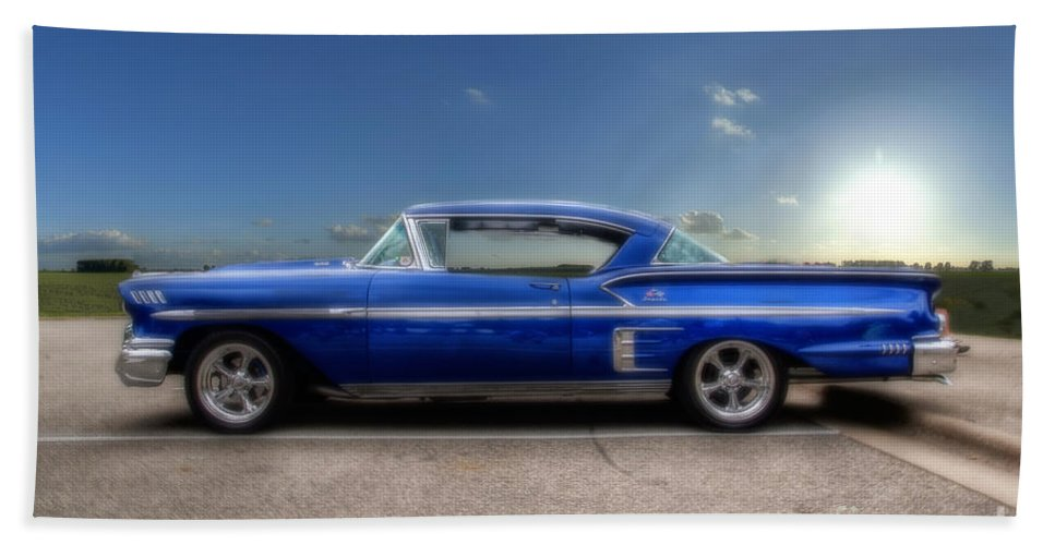 Chevy Beach Towel featuring the photograph Chevy Impala by Joel Witmeyer