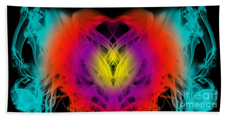 Clay Beach Towel featuring the digital art Chi by Clayton Bruster