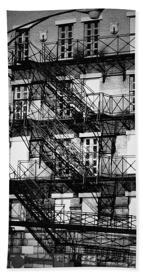 Chicago Beach Towel featuring the photograph Chicago Fire Escapes 3 by Kyle Hanson