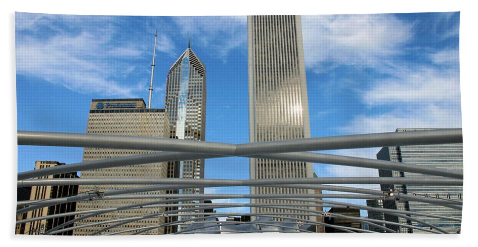 Chicago Beach Towel featuring the photograph Chicago Steel by Kristin Elmquist
