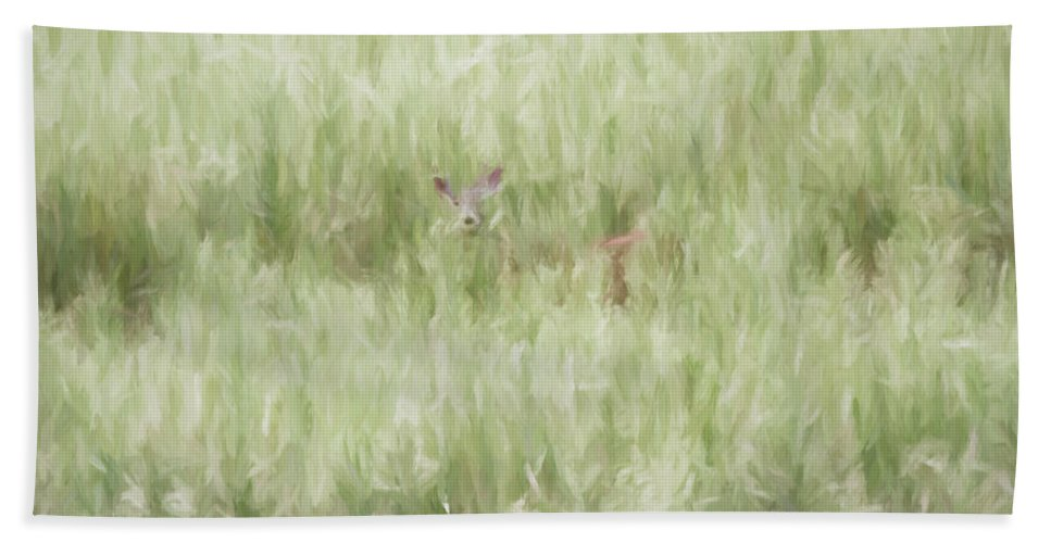 Digital Beach Towel featuring the digital art Child Of The Meadows by Dawn J Benko