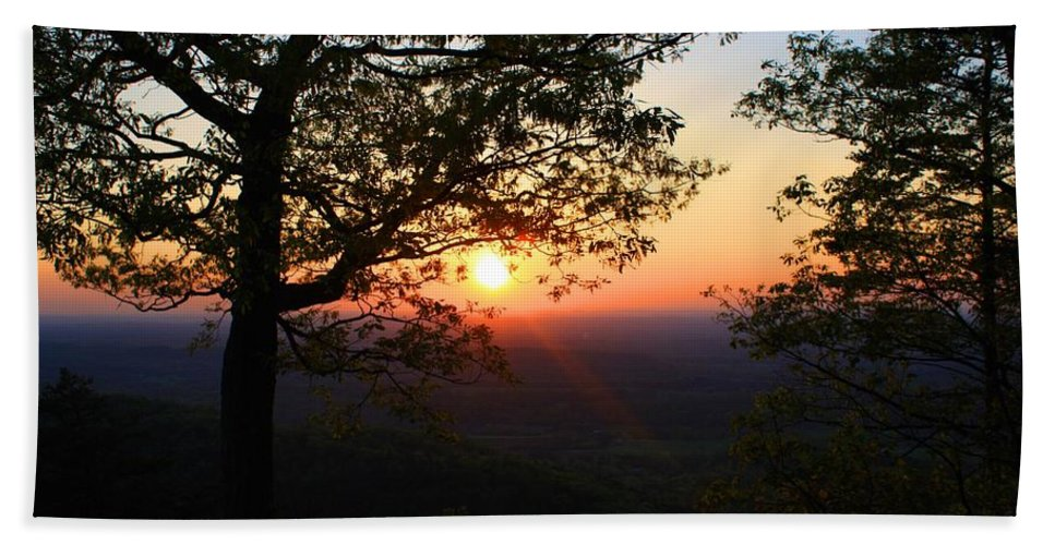 Sunset Beach Towel featuring the photograph Chilhowee Sunset by Kathryn Meyer