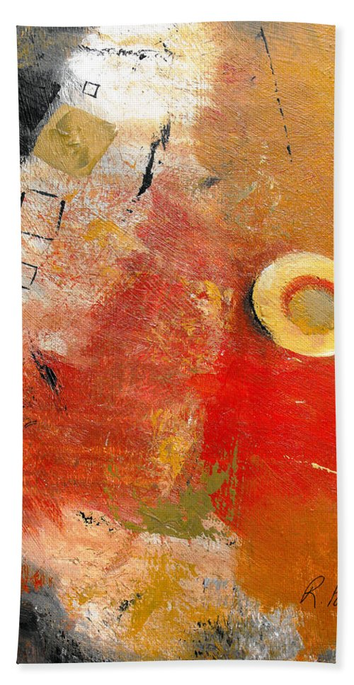 Abstract Beach Towel featuring the painting Chill Out by Ruth Palmer