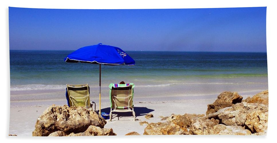 Beach Beach Towel featuring the photograph Chillin' Out by Gary Wonning