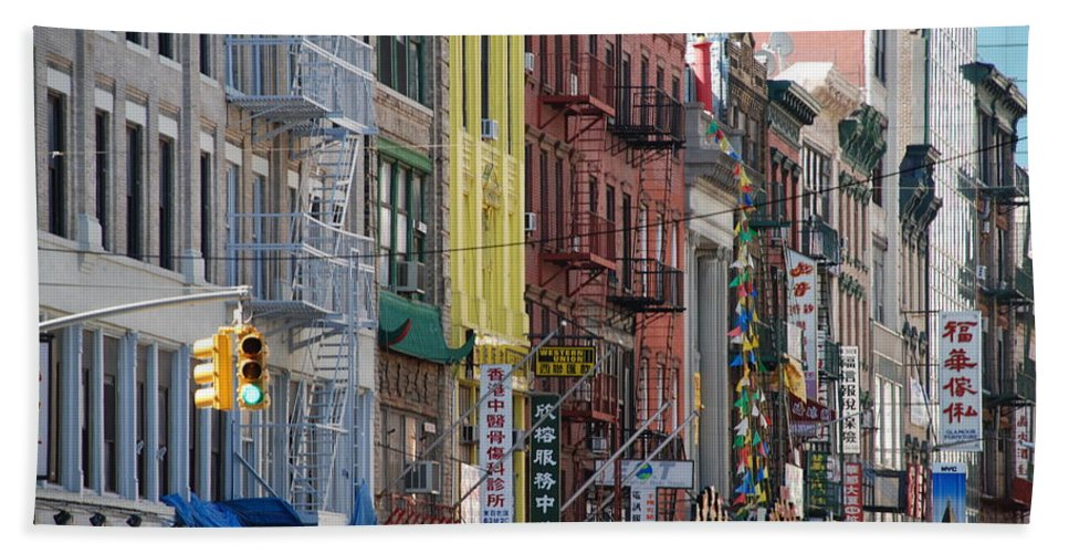 Architecture Beach Towel featuring the photograph Chinatown Walk Ups by Rob Hans