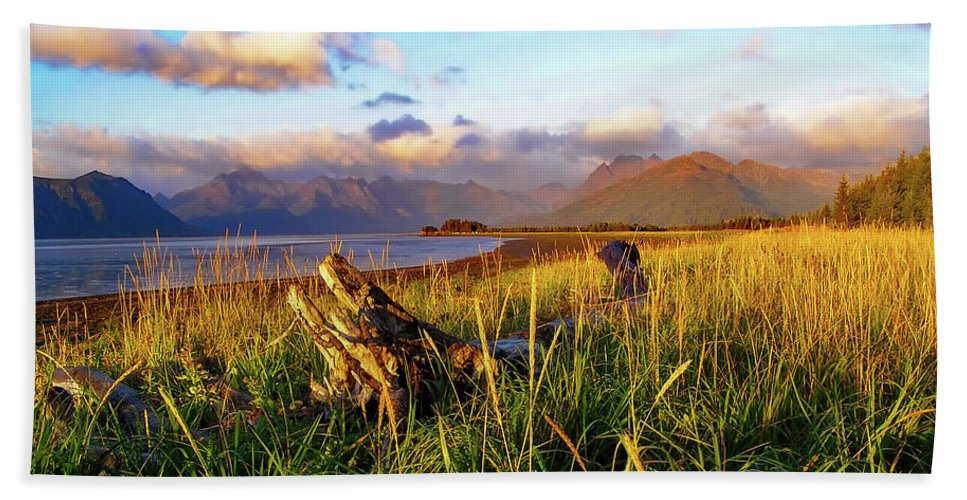 Chinitna Bay Beach Towel featuring the photograph Chinitna Bay Alaska by Nps