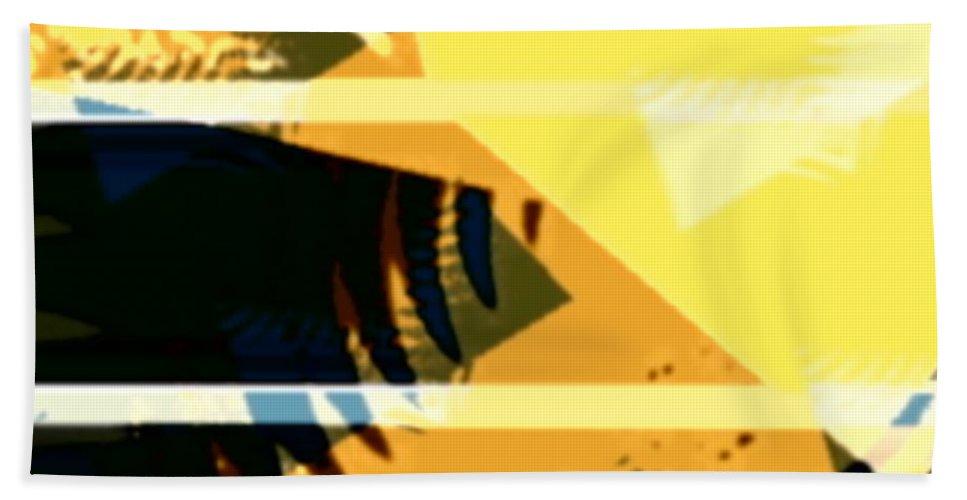 Art Digital Art Beach Towel featuring the digital art Chnage - Leaf9 by Alex Porter