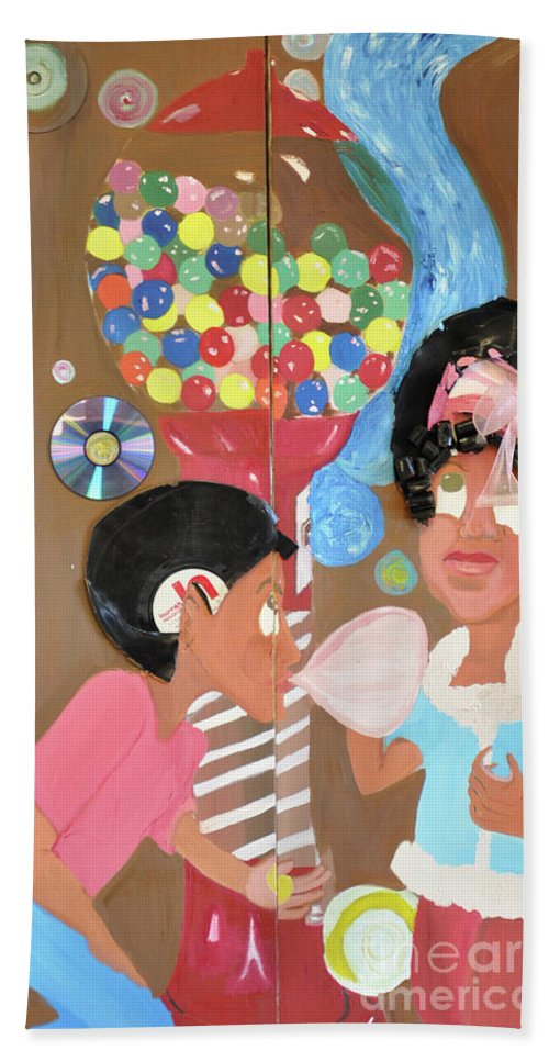 Beach Towel featuring the painting Chocolate Poverty by Jesse Johnson