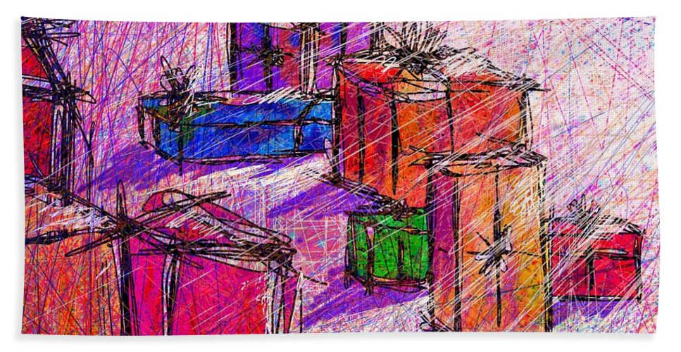 Christmas Beach Towel featuring the digital art Christmas Morning by William Russell Nowicki