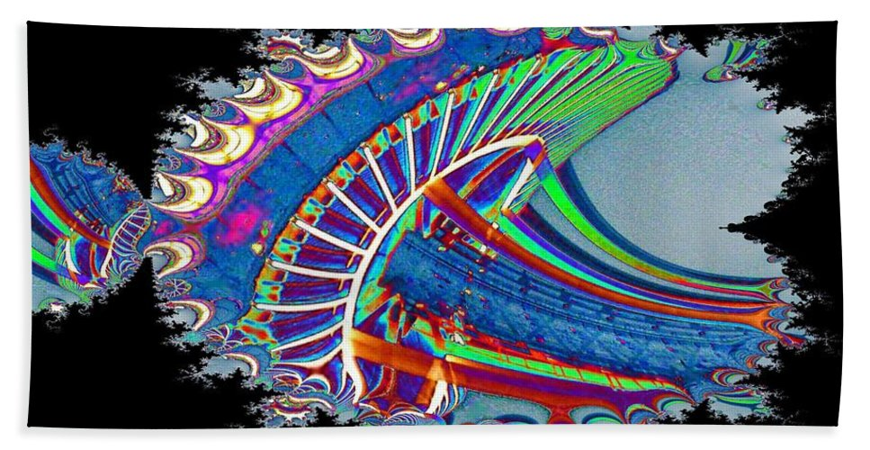 Seattle Beach Sheet featuring the digital art Christmas Needle In Fractal by Tim Allen