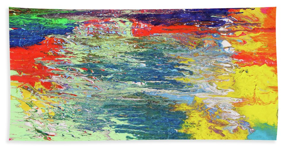 Fusionart Beach Towel featuring the painting Chromatic by Ralph White