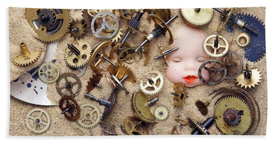 Time Beach Towel featuring the photograph Chronos - God Of Time by Michal Boubin