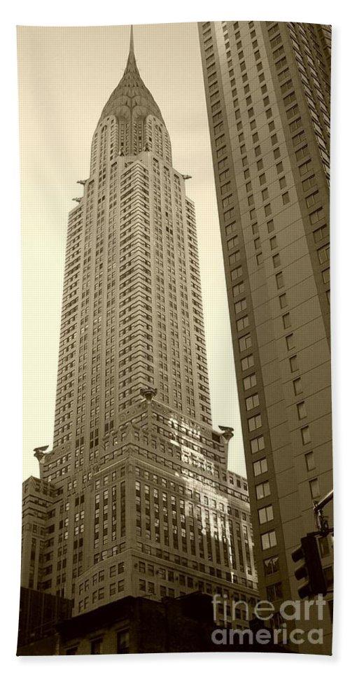 New York Beach Sheet featuring the photograph Chrysler Building by Debbi Granruth