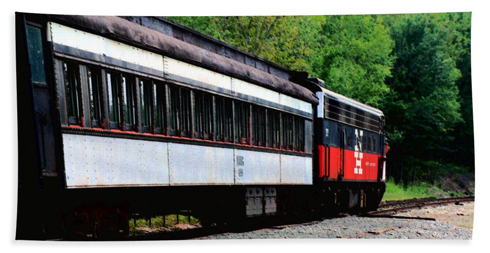 Train Beach Sheet featuring the photograph Chugging Along by RC DeWinter