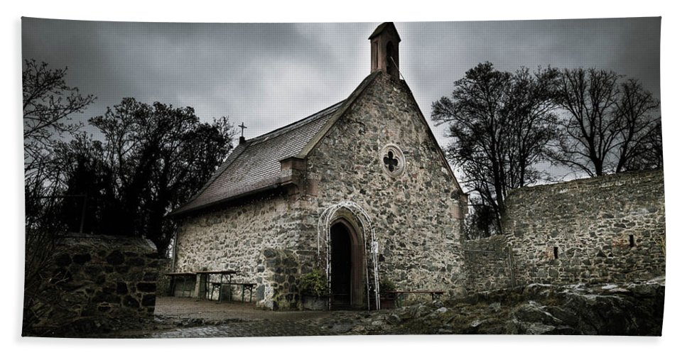 Castle Beach Towel featuring the photograph Church At Castle Frankenstein by Jason Steele