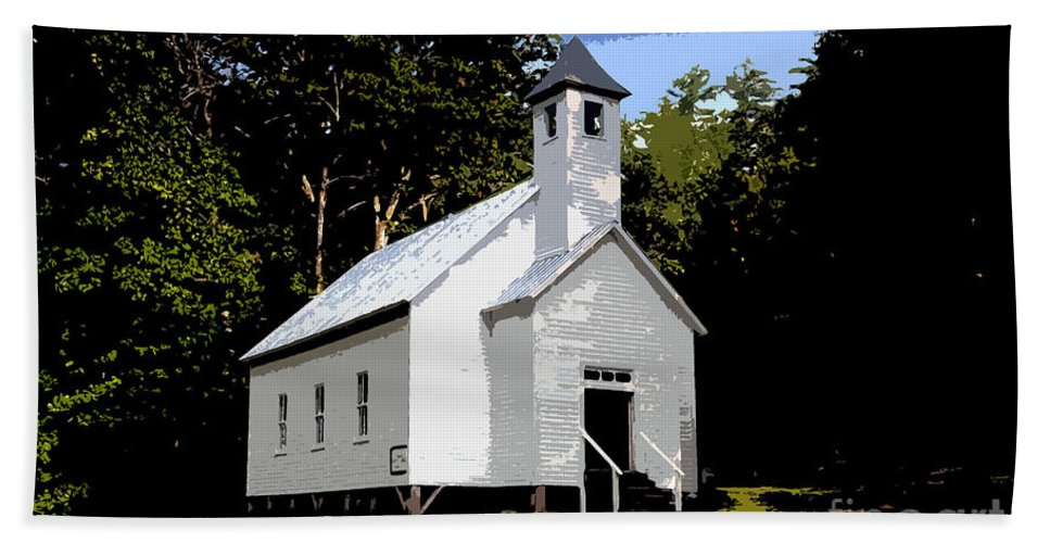 Baptist Church Beach Towel featuring the painting Church Of The Baptist by David Lee Thompson