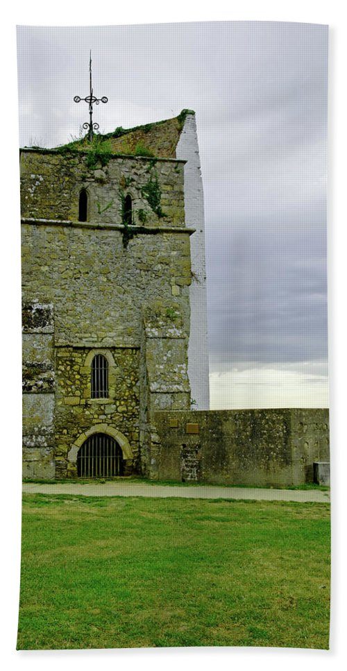 Europe Beach Towel featuring the photograph Church Tower - Remains Of St Helens Church by Rod Johnson