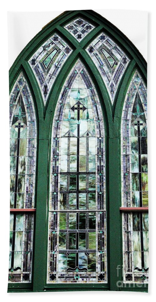 Window Beach Towel featuring the photograph Church Window by Amanda Barcon