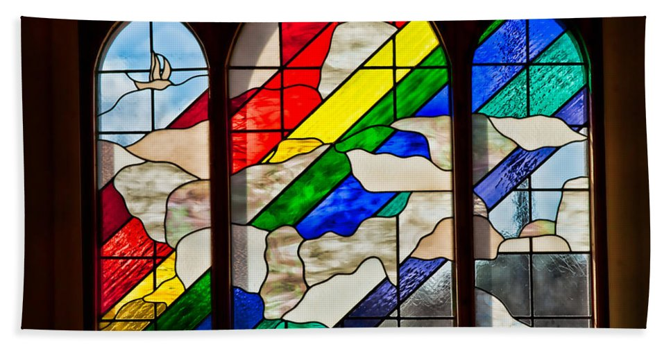 Architecture Beach Towel featuring the photograph Church Window by Christopher Holmes