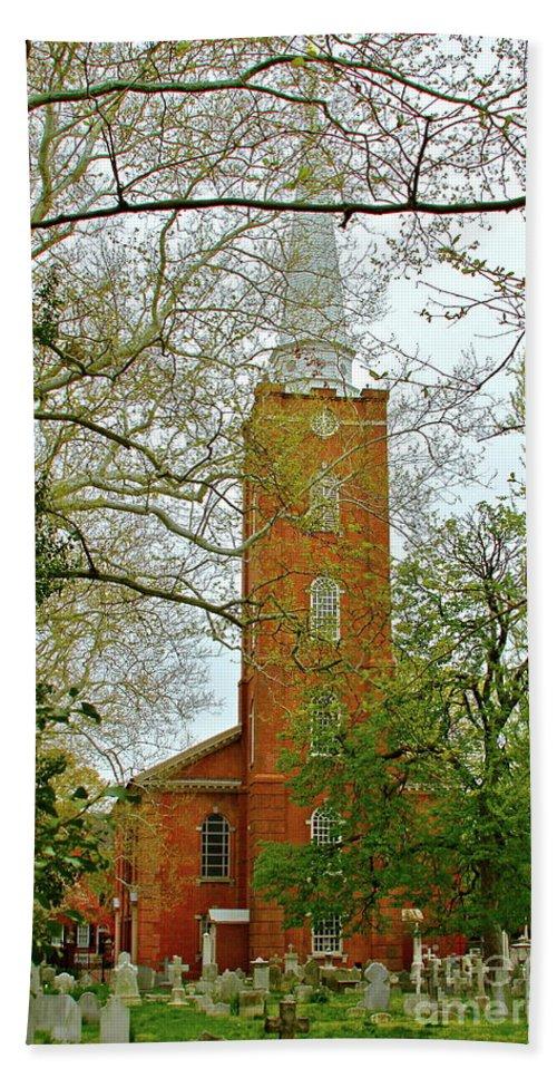 Church Beach Towel featuring the photograph Church Yard by Rick Monyahan