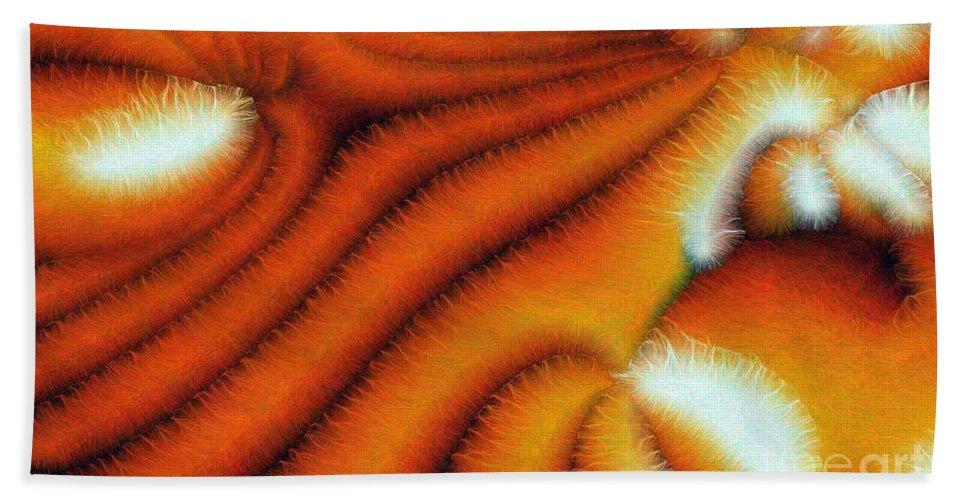 Hair Beach Towel featuring the digital art Cilia by Ron Bissett