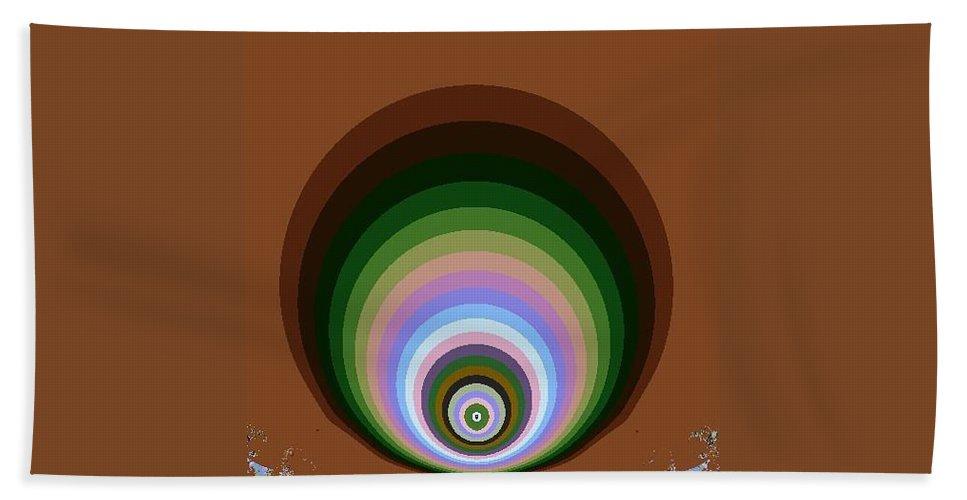 Digital Art Beach Towel featuring the digital art Circle II by Dragica Micki Fortuna
