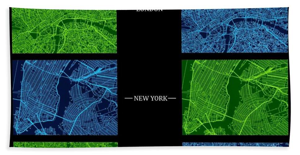 Sydney Beach Towel featuring the digital art Circuit Board Cities Gallery Plate by Kaleidoscopik Photography