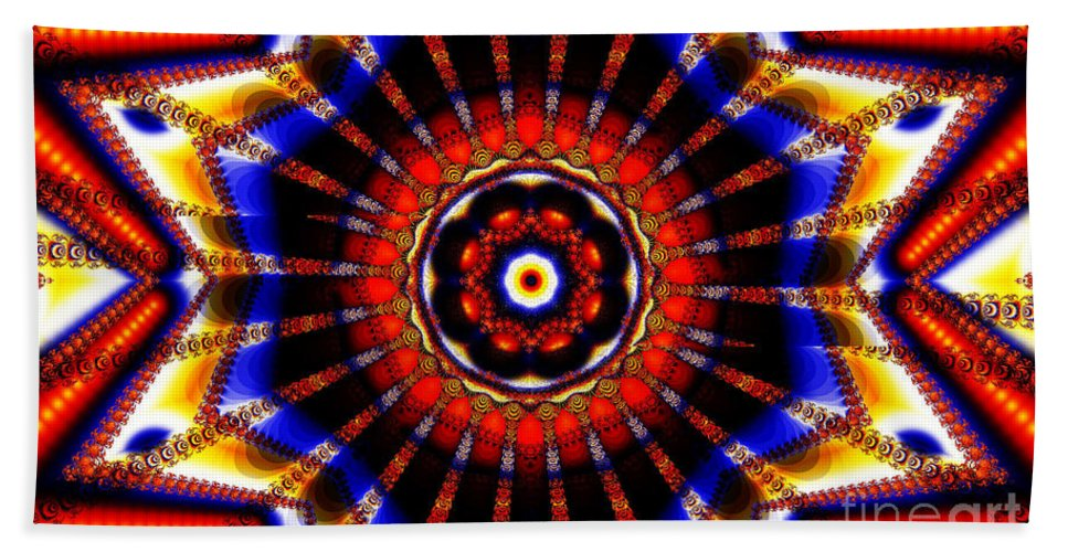 Clay Beach Towel featuring the digital art Circus by Clayton Bruster