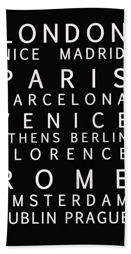 European Cities Beach Towel featuring the photograph Cities Of Europe by Georgia Fowler