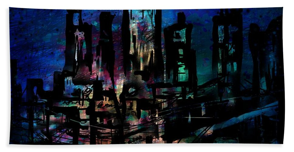 City Beach Towel featuring the digital art City Dreams by William Russell Nowicki