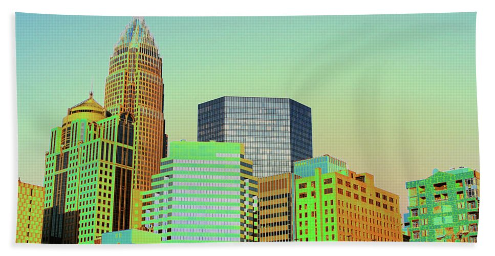 Charlotte Beach Towel featuring the photograph City Of Colors by Karol Livote