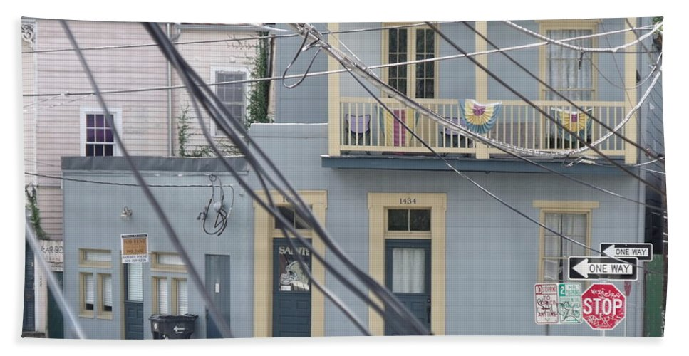 New Orleans Beach Towel featuring the photograph City Of N'awlins by Steve Cochran