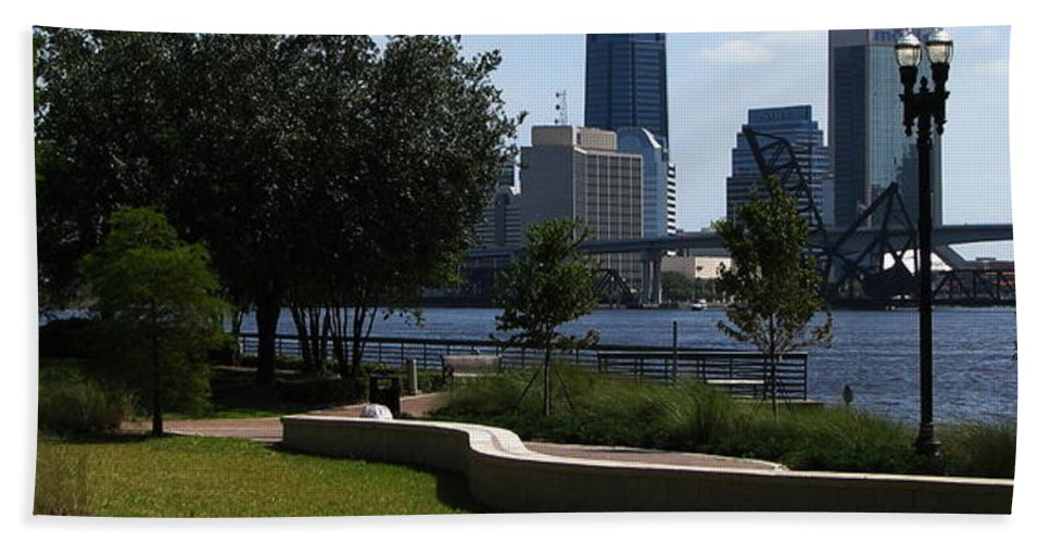 Art For The Wall...patzer Photography Beach Towel featuring the photograph City Way by Greg Patzer