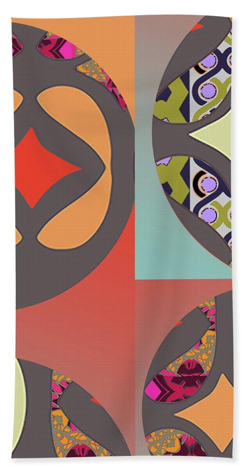 Digital Art Beach Towel featuring the digital art Claire by Ceil Diskin