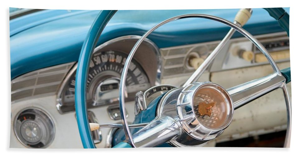 50s Beach Towel featuring the photograph Classic Drive by Bonfire Photography