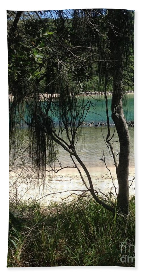 Clear Beach Towel featuring the photograph Clear Waters At The Beach by By Divine Light