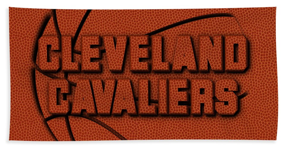 Cavaliers Beach Towel featuring the photograph Cleveland Cavaliers Leather Art by Joe Hamilton