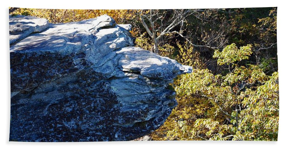 Wiseman's View Beach Towel featuring the photograph Cliff Face by Christina McKinney