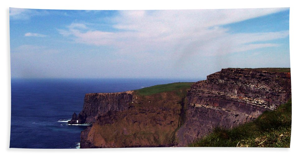 Irish Beach Towel featuring the photograph Cliffs Of Moher Aill Na Searrach Ireland by Teresa Mucha