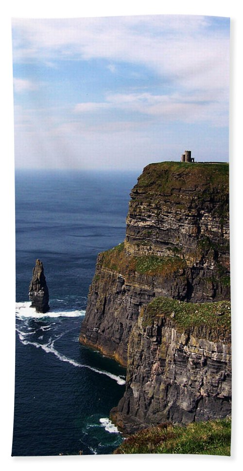Irish Beach Towel featuring the photograph Cliffs Of Moher County Clare Ireland by Teresa Mucha