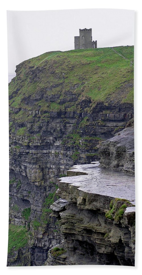 Cliff Beach Towel featuring the photograph Cliffs Of Moher Ireland by Charles Harden