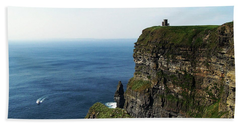 Irish Beach Towel featuring the photograph Cliffs Of Moher Ireland by Teresa Mucha