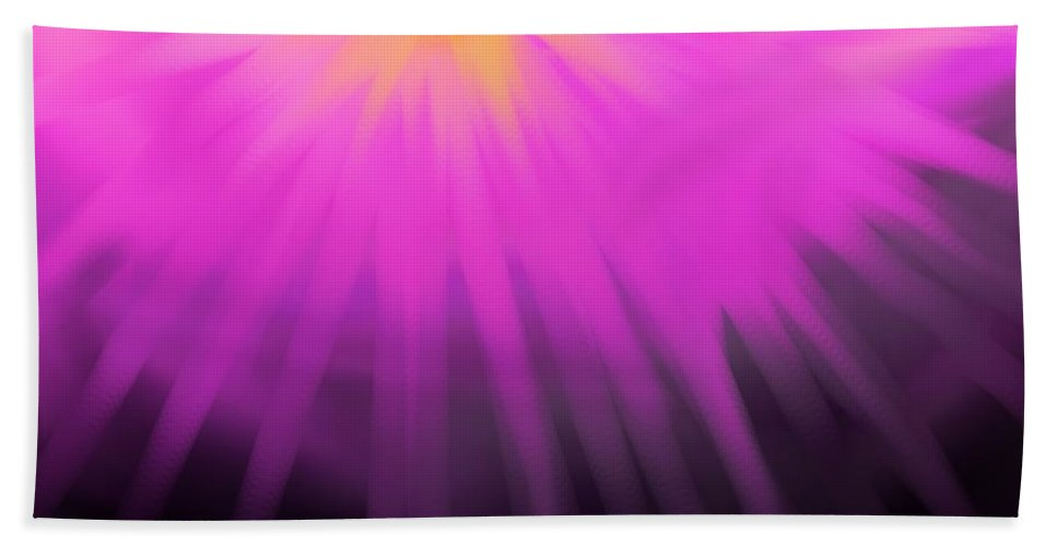 Sun Beach Towel featuring the digital art Climbing Over The Mountain by Ian MacDonald