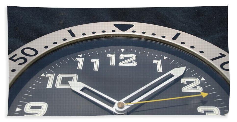 Clock Beach Towel featuring the photograph Clock Face by Rob Hans